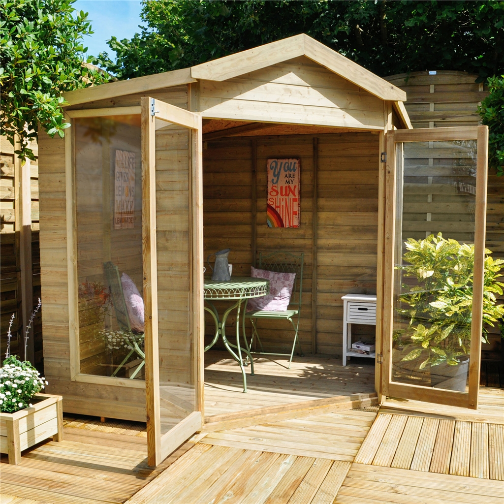 Shedswarehouse Com Hanbury Summerhouses 7ft X 7ft