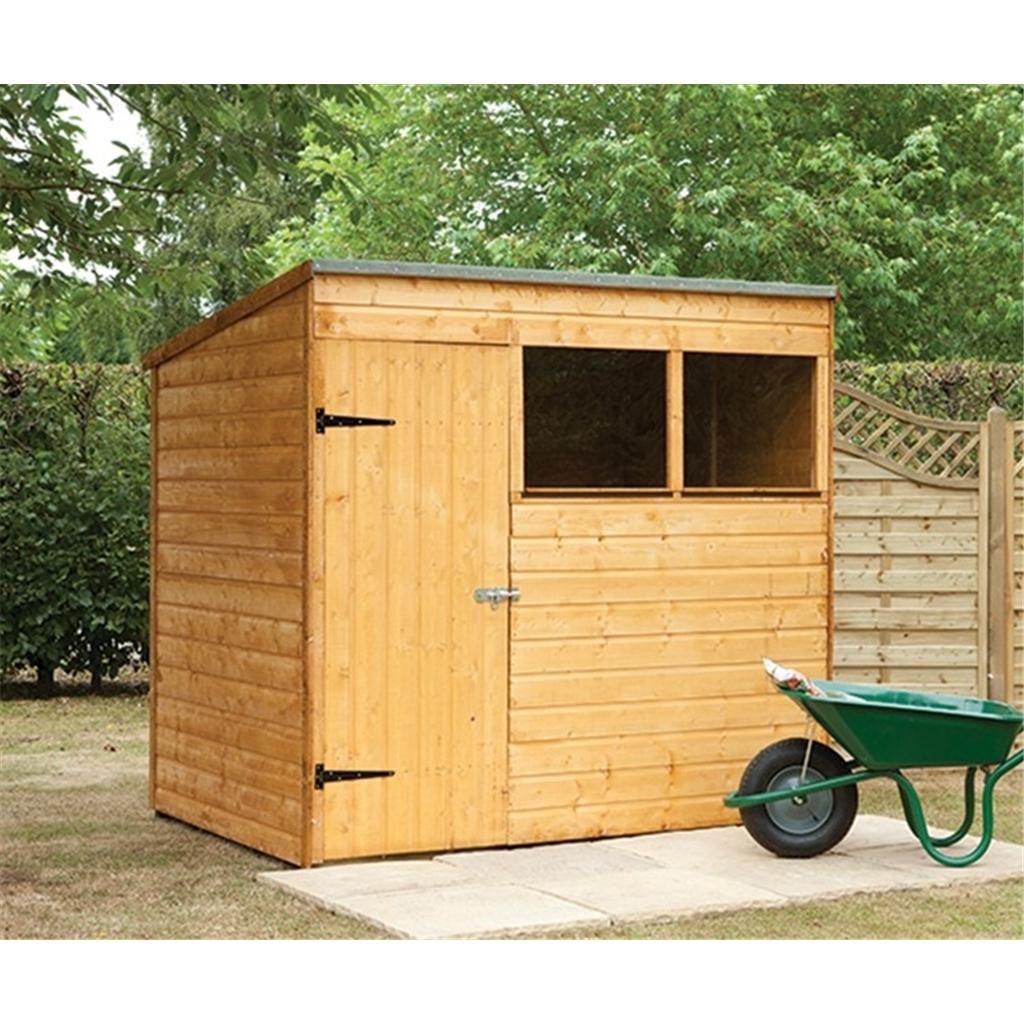 Hanbury 7x5 wooden shiplap pent for Garden shed 7x5