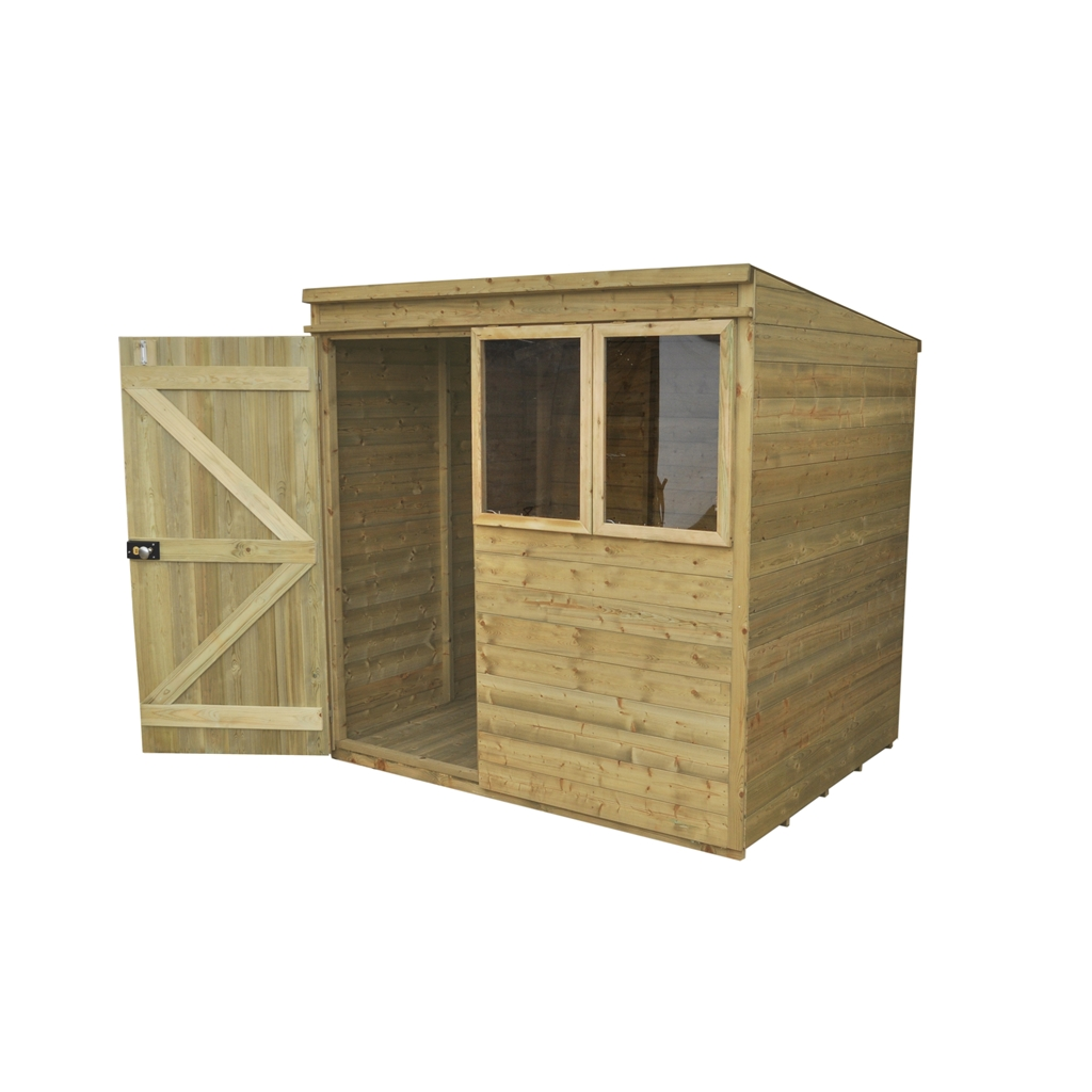 Hanbury 7x5 pressure treated pent for Garden shed 7x5