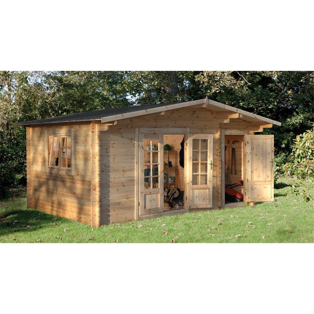 Shedswarehouse Com Hanbury Log Cabins 4 5m X 3 5m Log