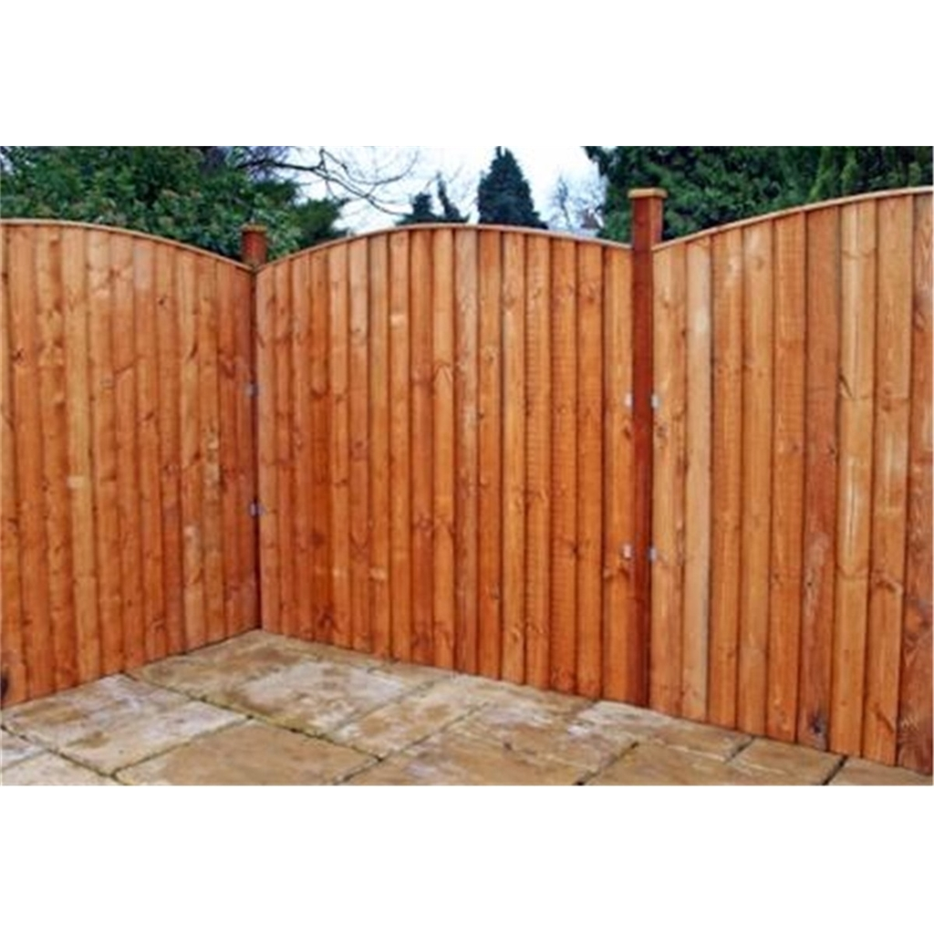 oxford fencing 6ft vertical feather edge fencing curved 1 panel only. Black Bedroom Furniture Sets. Home Design Ideas