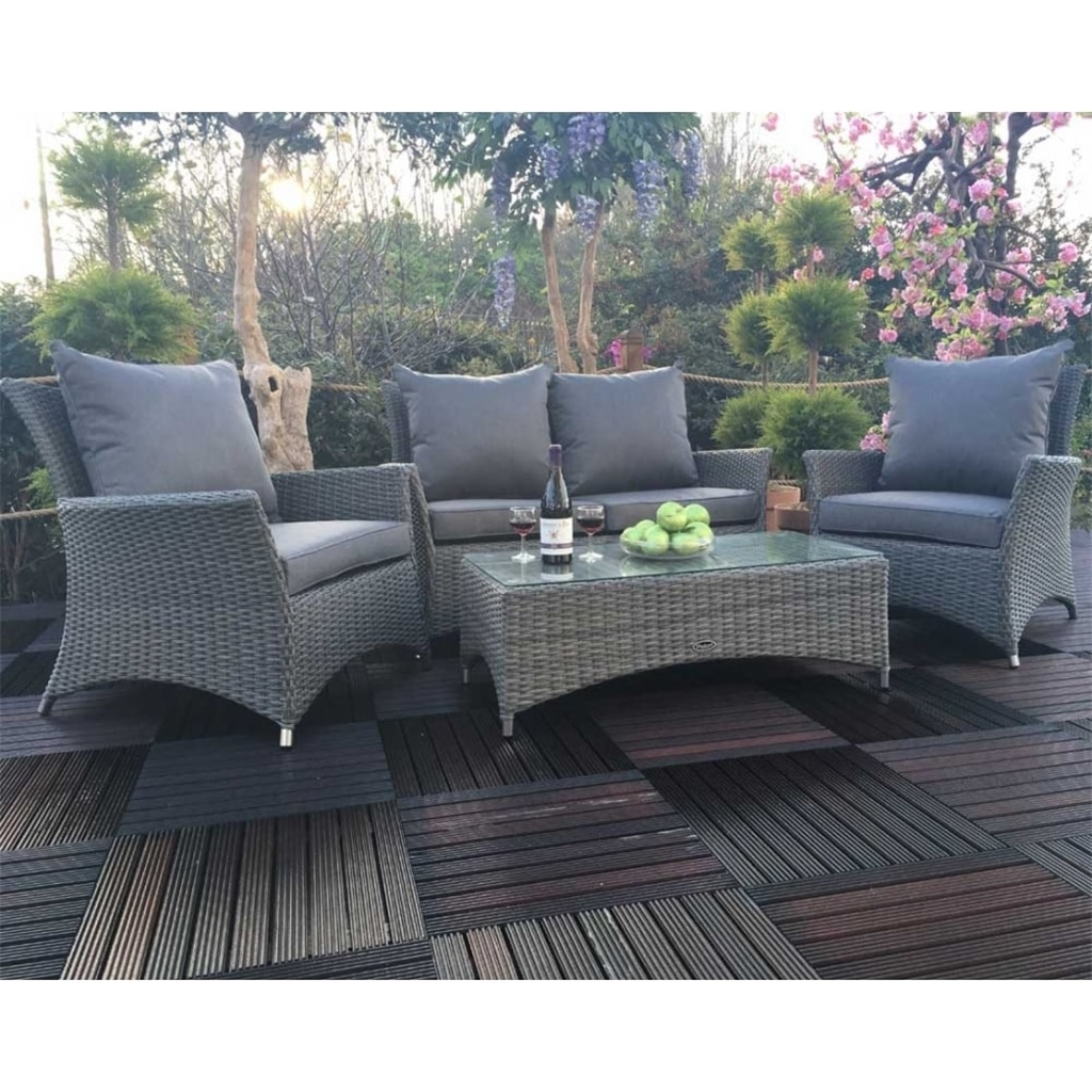 ShedsWarehouse.com  Garden Furniture - Paris Collection  10 Seater PARIS  DELUXE LOUNGE SET : 10 seater Sofa with Coffee Table & 10 x Lounging  ArmChairs
