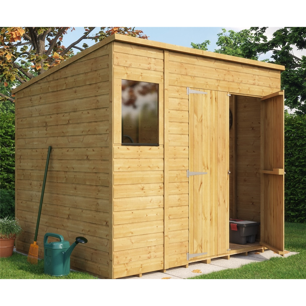 8ft X 6ft Shiplap Pent Shed With