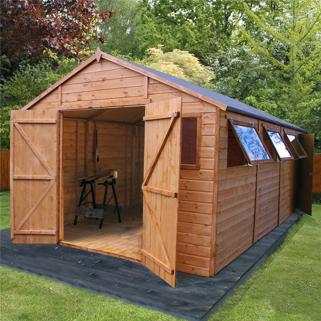Oxford workshops 20ft x 10ft deluxe for T g roofing