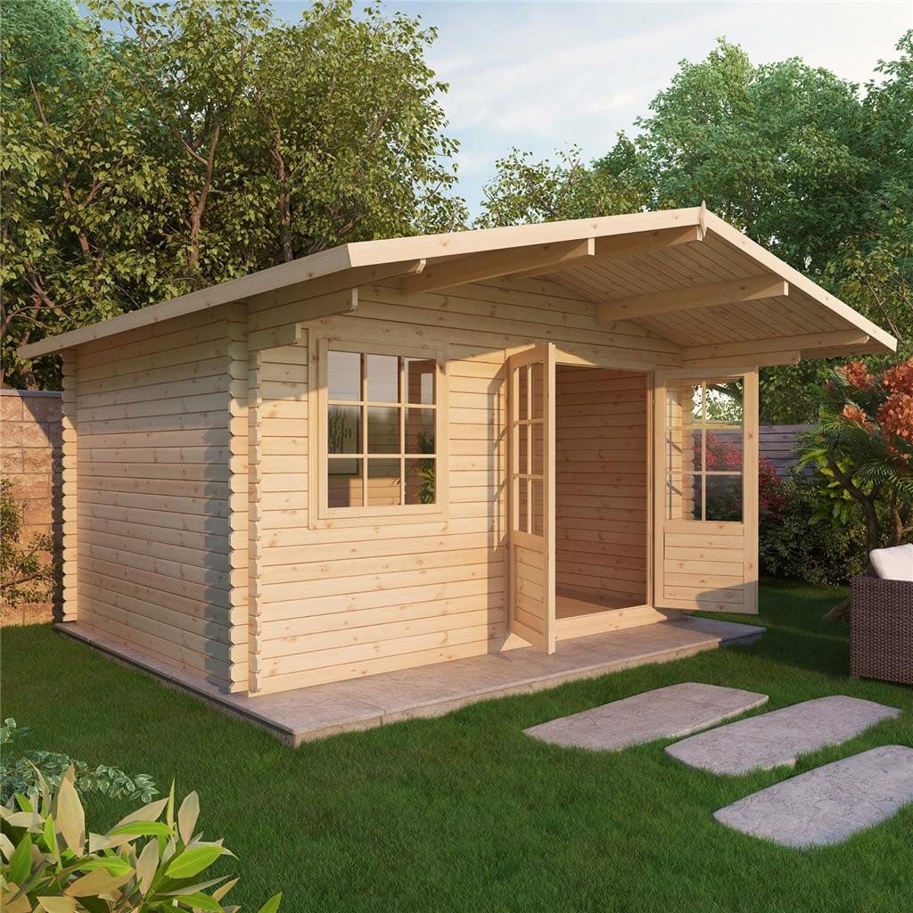 Wonderful image of ShedsWarehouse.com OXFORD LOG CABINS 4m x 3m EDEN Log Cabin  with #9F6C2C color and 1024x1024 pixels