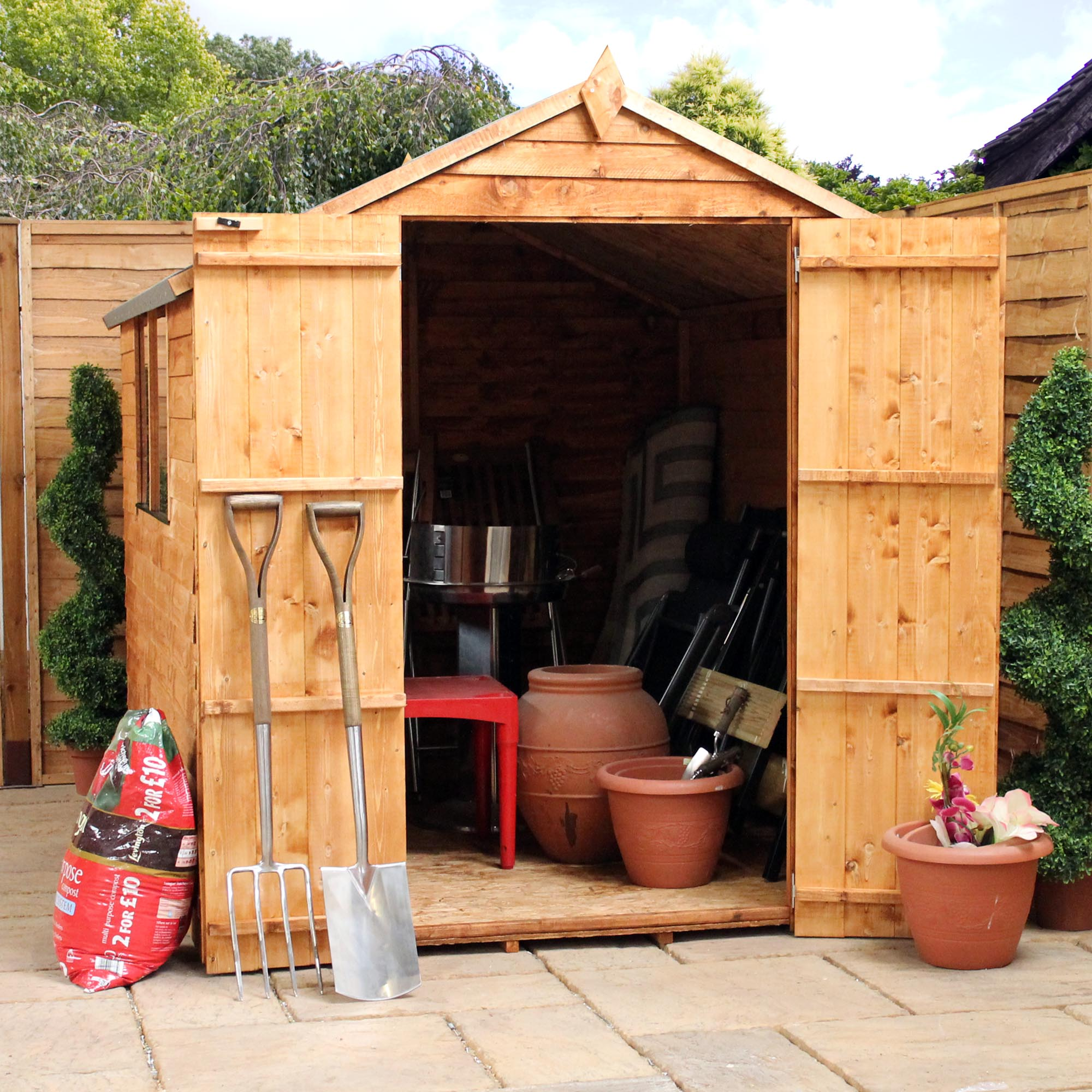 Oxford 8ft x 6ft x for Two floor shed