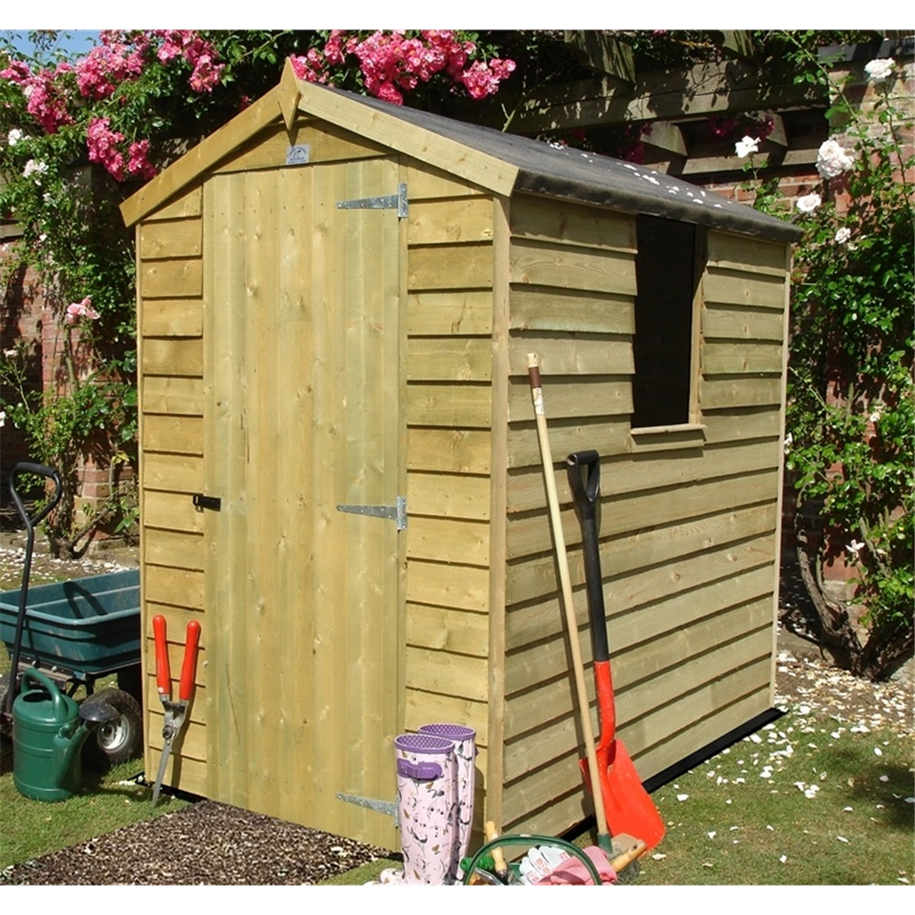 Stowe 6ft x 4ft stowe pressure for Apex garden sheds