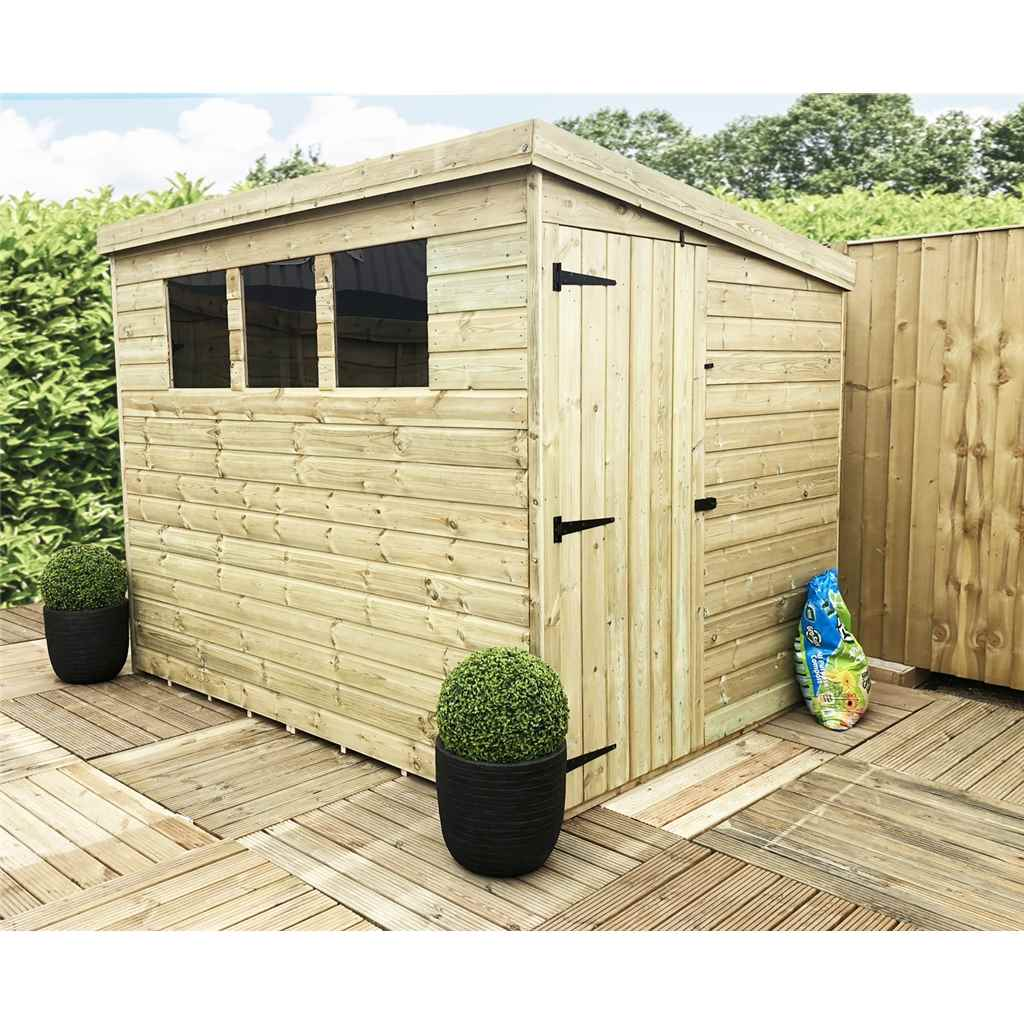 Aston 8ft x 4ft pressure treated for 12x8 shed with side door