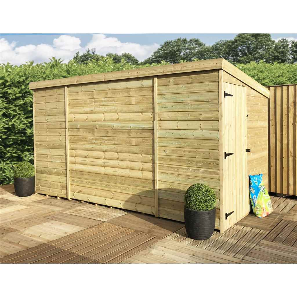 Aston 10ft x 8ft windowless for 12x8 shed with side door