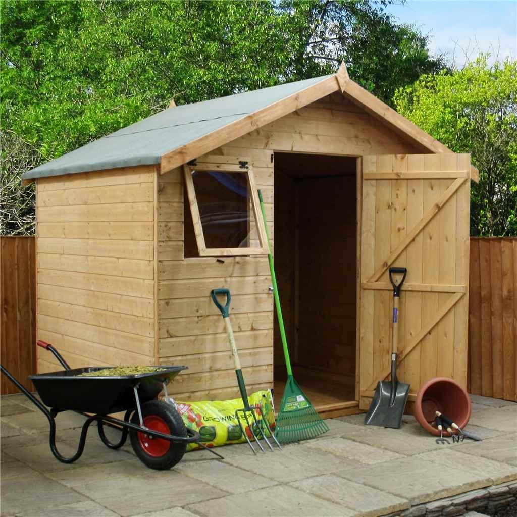 Oxford workshops 6ft x 8ft premier for Two floor shed