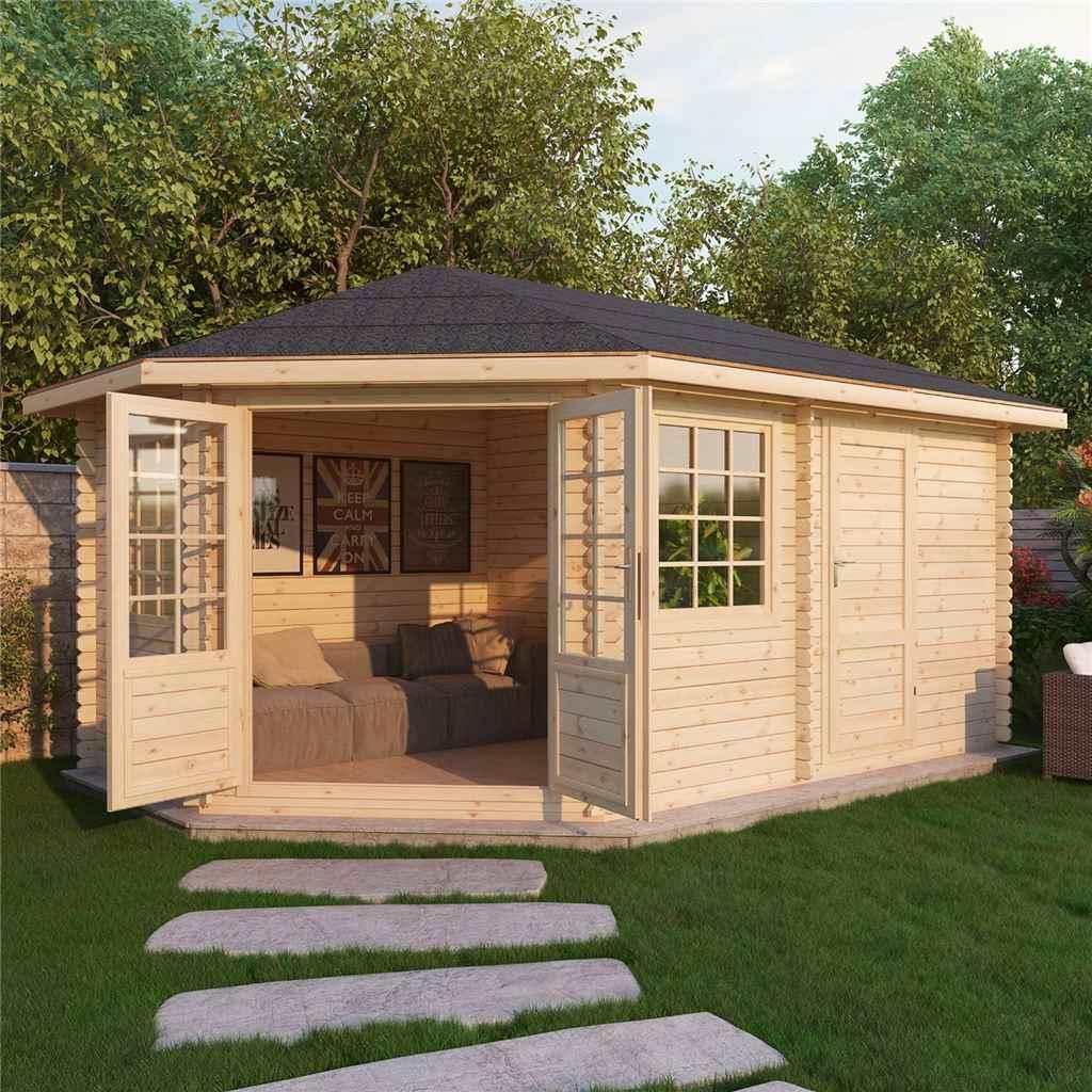 Shedswarehouse Com Oxford Log Cabins X Ohio Corner Log