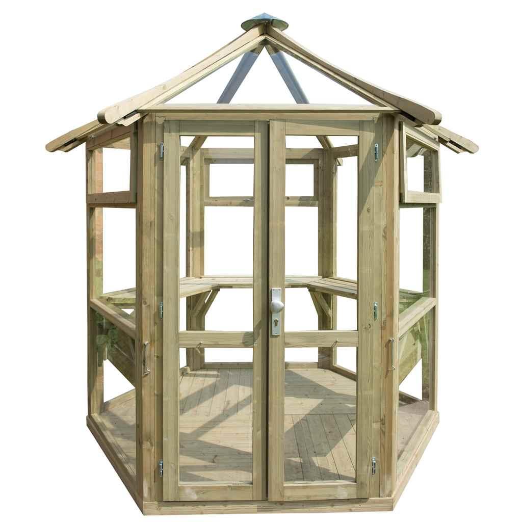 Hanbury summerhouses 9x8 summer for Octagonal greenhouse plans