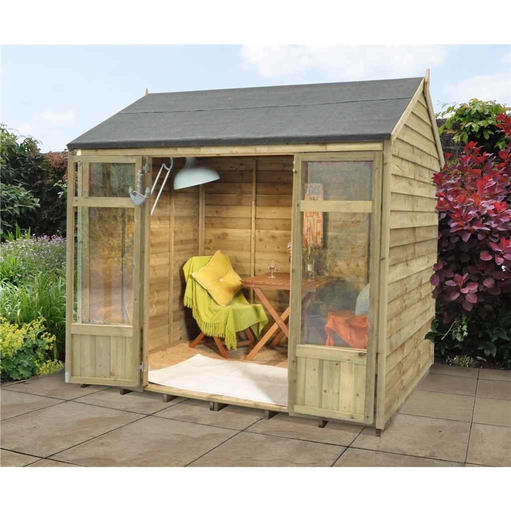 Hanbury summerhouses 8x5 buttercup for Garden shed 8x5