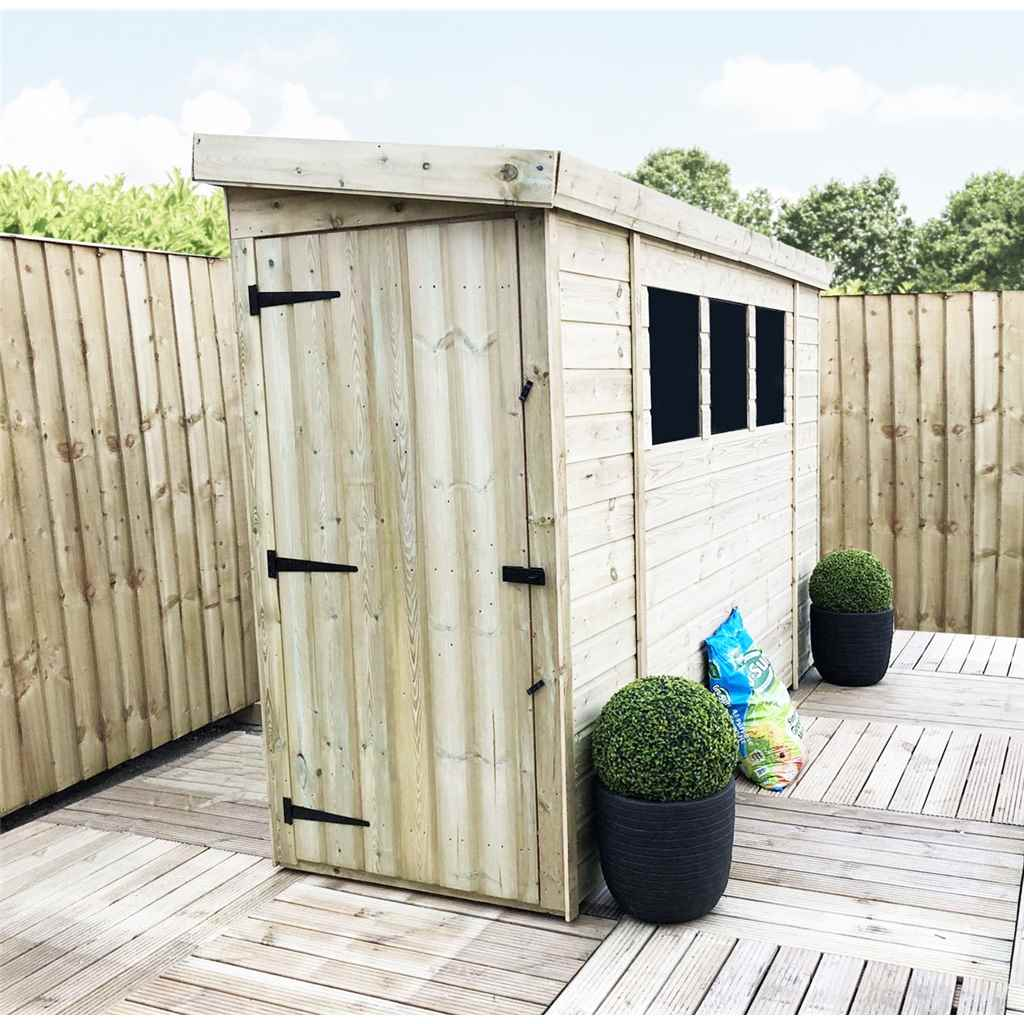 Aston 7ft x 3ft reverse pressure for 12x8 shed with side door