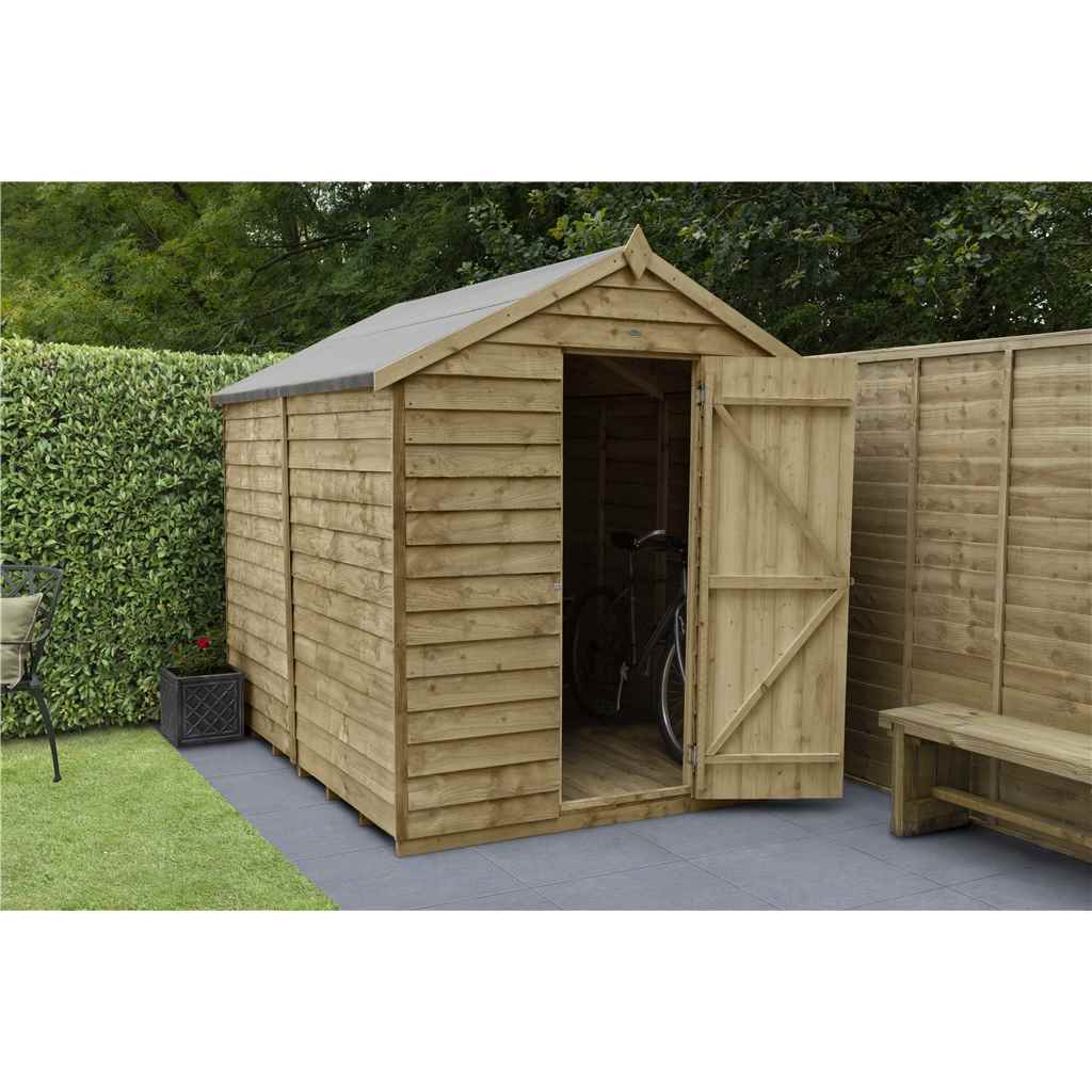 Hanbury 8ft x 6ft pressure treated for Apex garden sheds