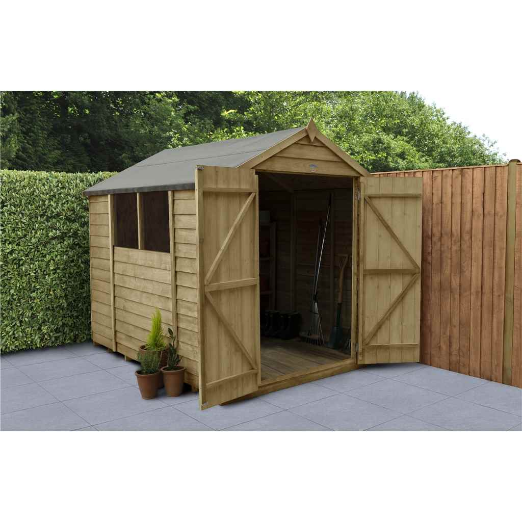 wooden shed door solid windows single roof day guarantee board free year sheet waltons floor sheds garden dp storage overlap pent from delivery