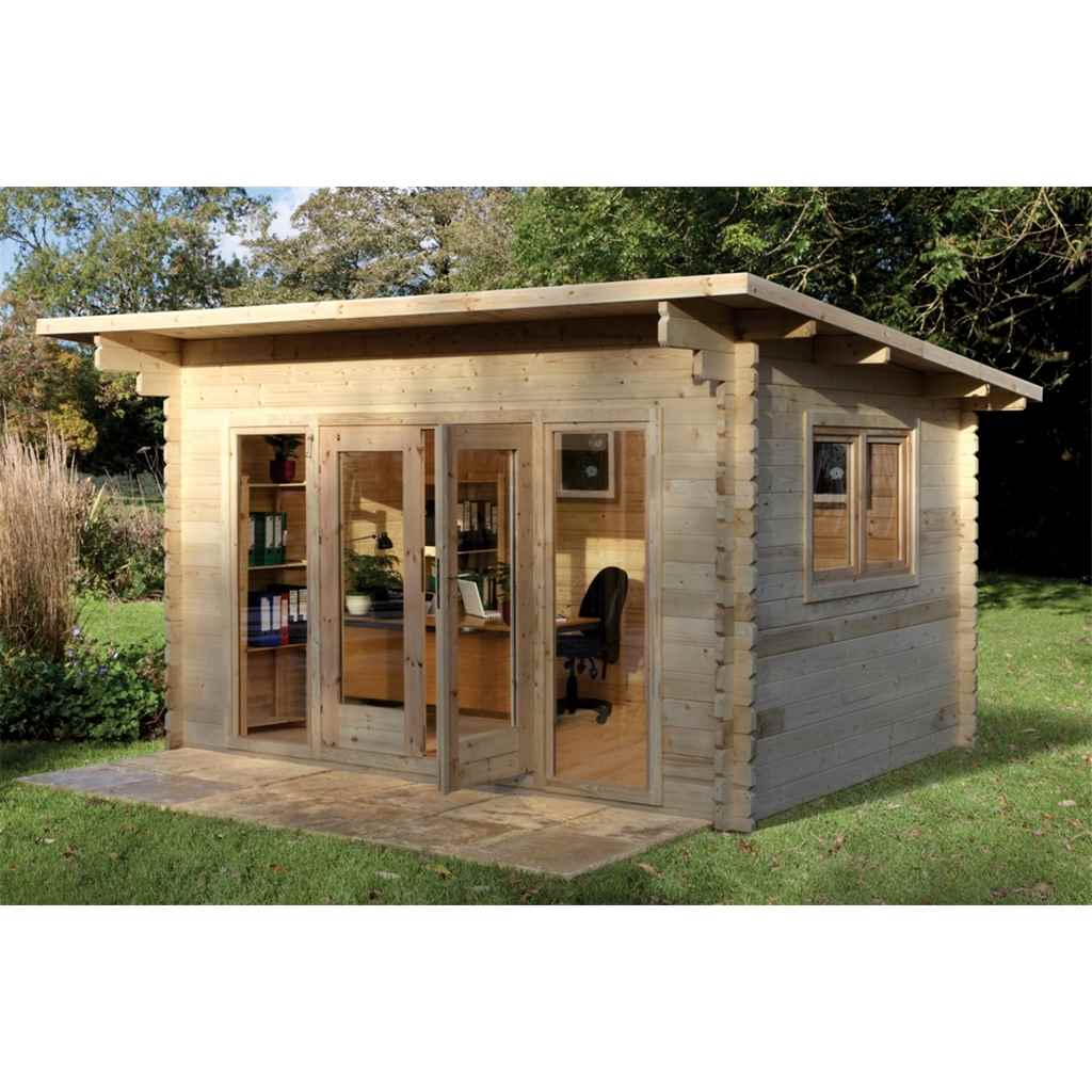 Hanbury log cabins 4m x 3m log for Large log cabin homes