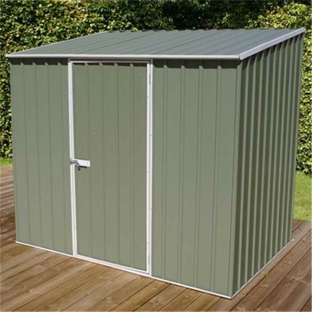ShedsWarehouse com | OXFORD METAL SHEDS | **PRE-ORDER:DUE BACK IN STOCK:  22ND DECEMBER** INSTALLED 8ft x 5ft (2 3m x 1 5m) Space Saver Pale  Eucalyptus