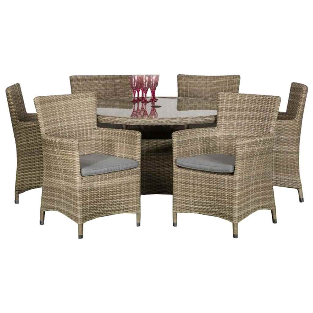 click to enlarge - Garden Furniture 6 Seater Round