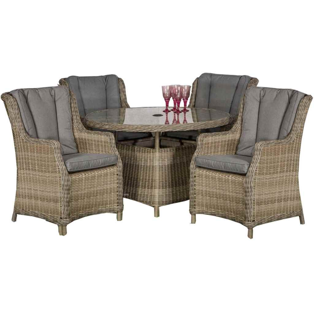 garden furniture wentworth rattan collection 4 seater wentworth round. Black Bedroom Furniture Sets. Home Design Ideas