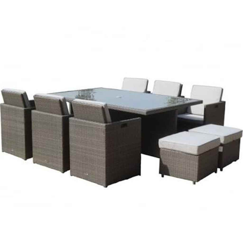 Garden furniture marlow flat weave for 10 seater garden table