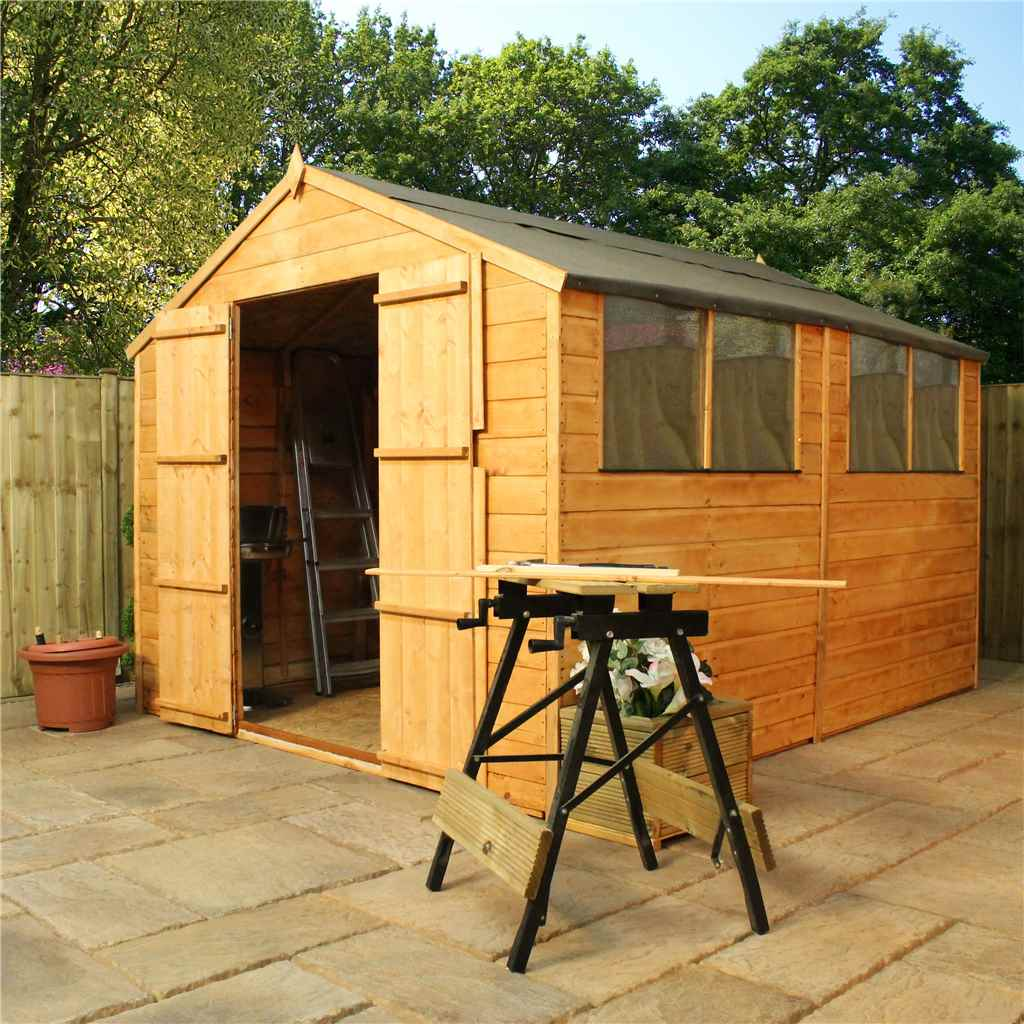 Oxford 10ft x 8ft x for Two floor shed