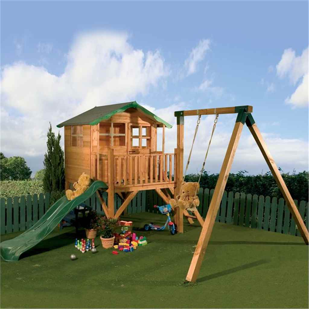 Shedswarehousecom Bumble Bee Playhouses Tulip Tower Playhouse Slide Swing 5ft X 7ft