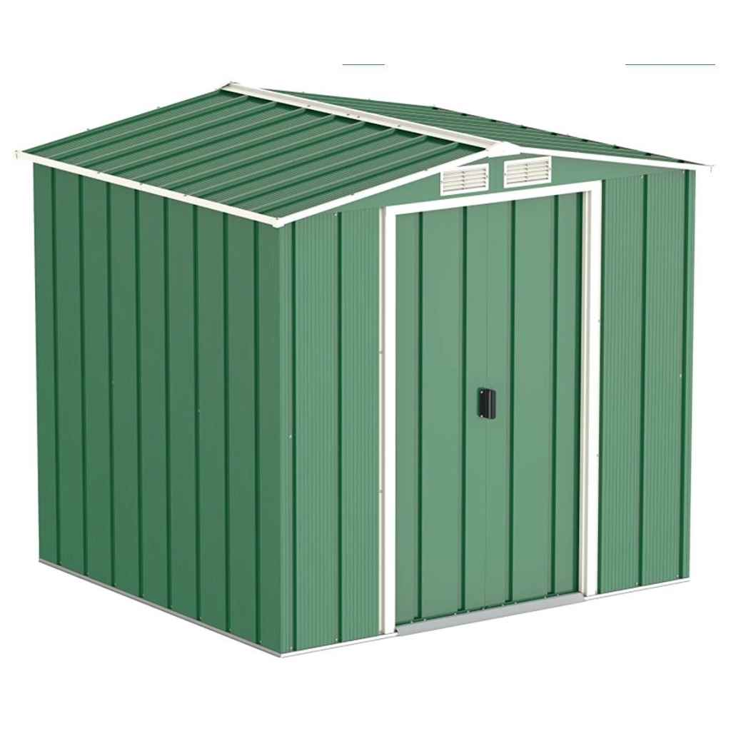 ShedsWarehouse com | Madrid | **PRE-ORDER ONLY - BACK IN STOCK MID JUNE**  6ft x 6ft Value Metal Shed (2 01m x 1 82m)
