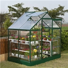 SUTTON - Green Frame Greenhouse 6ft x 4ft