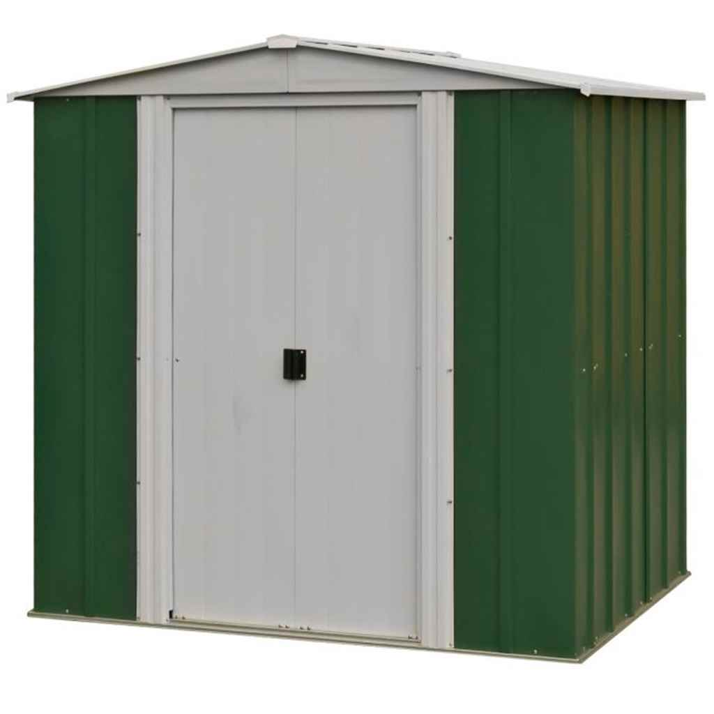Rowlinson - 6ft x 5ft Rowlinson Metal Apex Shed (1900mm x 1510mm)