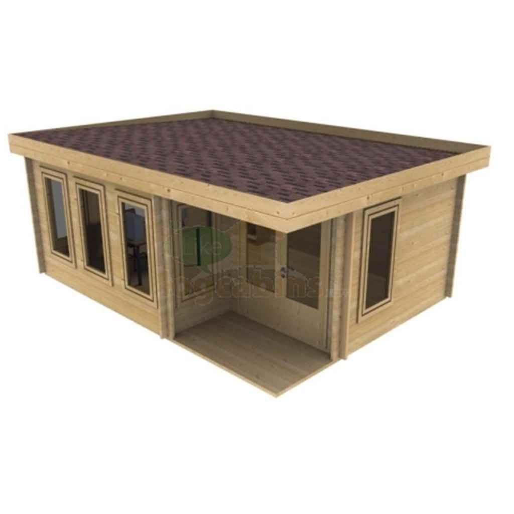 Relax - PREMIER 20ft x 16ft (6m x 5m) PRAGUE Log Cabin - Base Price for 34mm Wall Thickness