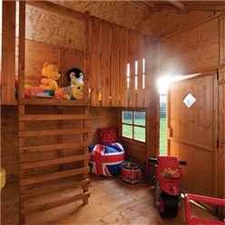 8ft x 7ft Rowlinson Swiss Cottage Playhouse (2.50m x 2.06m)