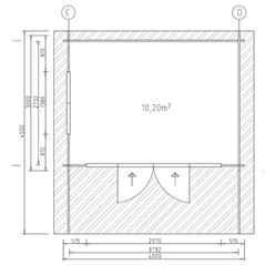 4m x 3m Serre Log Cabin - Double Glazing - 34mm Wall Thickness