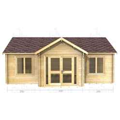 7m x 5m Premier Savoie Log Cabin - Double Glazing - 44mm Wall Thickness