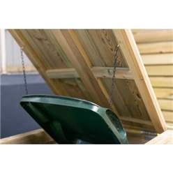 Single Pressure Treated Wheelie Bin Store - 140 Litre Bin