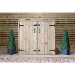 Wheelie Bin & Recycling Box Chest Store - 1 x Wheelie Bin + 2 x Recycling Boxes