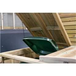 Wheelie Bin & Recycling Box Triple Chest Store - 2 x Wheelie Bin + 2 x Recycling Boxes