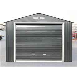 OOS - BACK OCTOBER 2021 - 12ft x 20ft Value - Metal Garage - Anthracite Grey (3.72m x 6.04m)