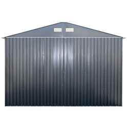 OOS - BACK SEPTEMBER 2021 - 12ft x 38ft Value - Metal Garage - Anthracite Grey (3.72m x 11.45m)