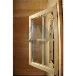 6m x 5m Premier Prague Log Cabin -  Double Glazing - 70mm Wall Thickness