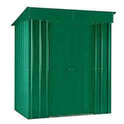 6ft x 4ft Premier EasyFix - Pent - Metal Shed - Heritage Green (1.80m x 1.24m)