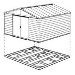 6ft x 3ft Easyfix Steel Foundation Kit (Pent)