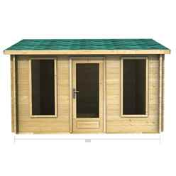 3.5m x 2.5m Premier Palma Log Cabin - Double Glazing - 34mm Wall Thickness