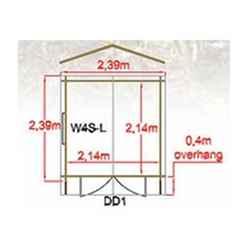 2.39m x 2.99m High Spec Log Cabin - 44mm Wall Thickness