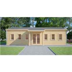 6m x 10m (60m2) Premier Classroom - Building Complaint - Log Cabin - 70mm Wall Thickness - Double Glazing