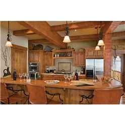 6m x 10m Premier Chalet Log Cabin (with Mezzanine) - 70mm Wall Thickness - Double Glazing