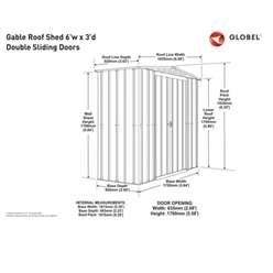 6ft x 3ft Premier EasyFix – Apex – Metal Shed - Heritage Green (1.84m x 0.92m)
