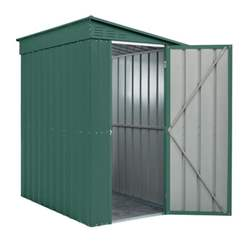 OOS - BACK JUNE 2021 - 4ft x 6ft Premier EasyFix - Lean To - Metal Shed - Heritage Green (1.24m x 1.80m)