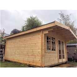 4m x 5m Premier Oslo Log Cabin - Double Glazing - 34mm Wall Thickness