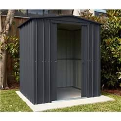 6ft x 4ft Premier EasyFix – Apex – Metal Shed - Anthracite Grey (1.84m x 1.23m)